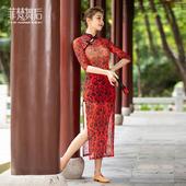 CHN21106旗袍(赠送黑色打底裤)