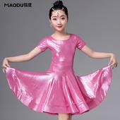 【售完為止】貓度2018夏季新款少女兒童拉丁舞蹈服裝表演出比賽考級練功連衣裙