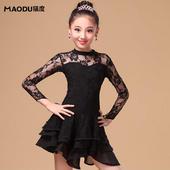 【售完為止】貓度2016春新款兒童拉丁舞蹈裙少兒女拉丁舞蹈服裝專業比賽考級服