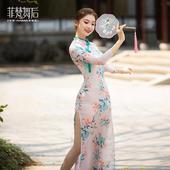 CHN21103旗袍(送肉色打底裤)